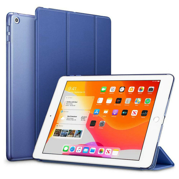 Navy Blue Slim Magnetic Leather Smart Stand Case Cover For iPad 10.2 (2020) 8th Generation
