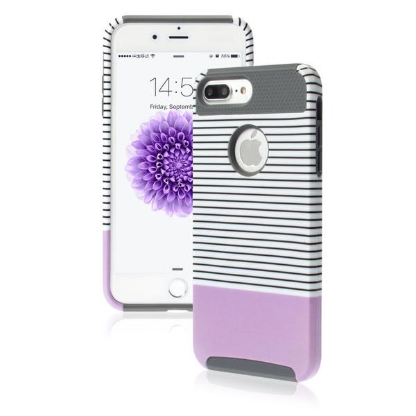 Apple iPhone 8 Plus Shockproof Hybrid Purple Rugged Rubber Hard Back Case