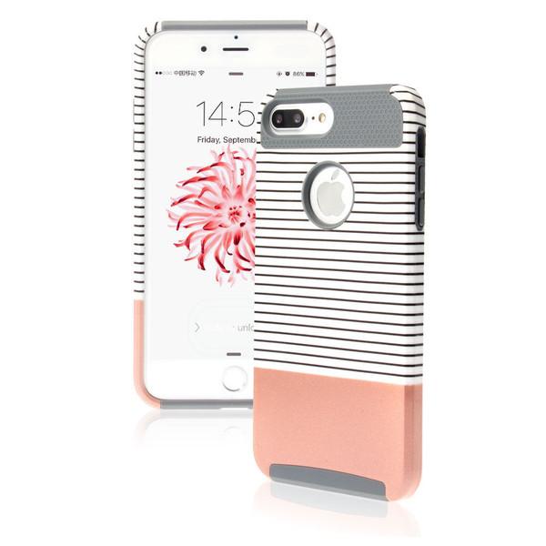 Apple iPhone 8 Plus Shockproof Hybrid Rosy Rugged Rubber Hard Back Case