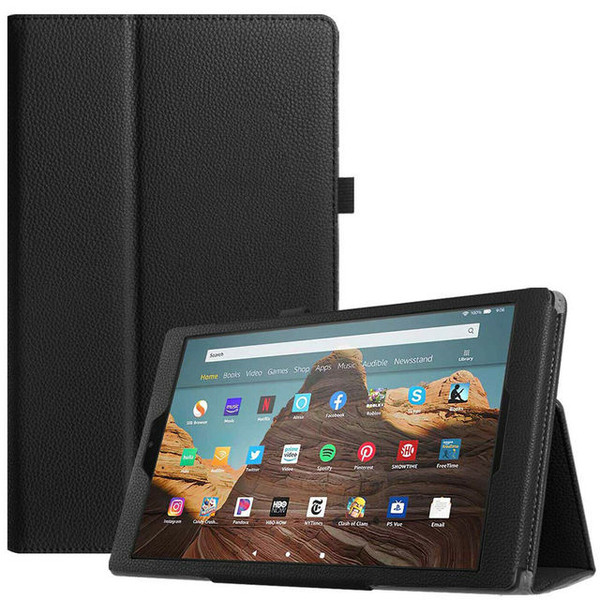 Black Leather Flip Smart Stand Case Cover for iPad  10.2 8th Gen 2020