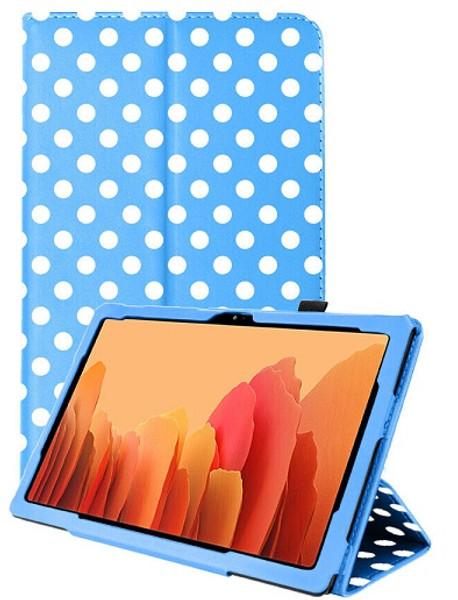 Samsung Galaxy Tab A7 10.4 2020 T50 T505  Blue Polka Smart 360 Folding Stand Cover