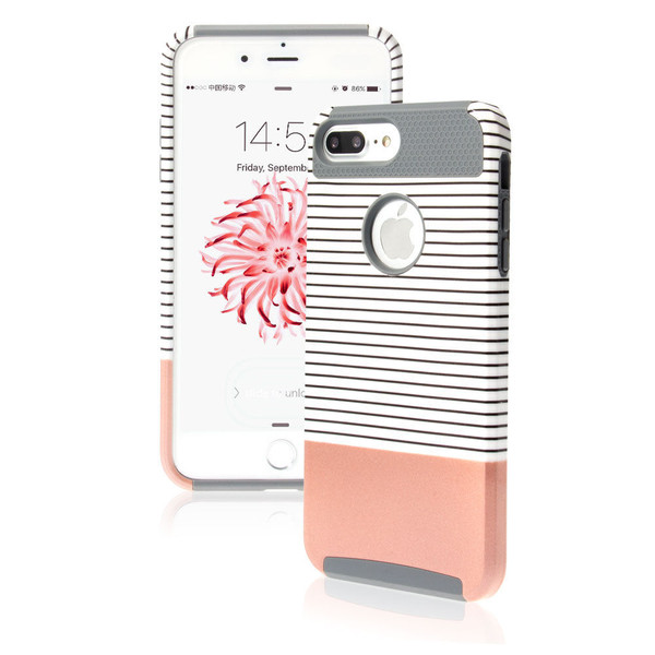 Apple iPhone 8 Shockproof Hybrid Rosy Rugged Rubber Hard Back Case
