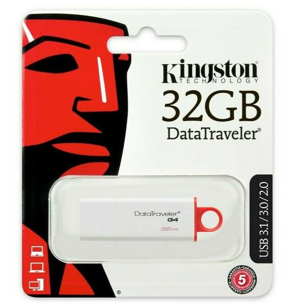 Kingston DataTraveler G4 32GB USB 3.0 Flash Drive DTIG4/32GB