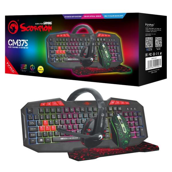 Marvo Scorpion CM375 4-in-1 Gaming Starter Kit