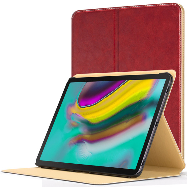 Samsung Galaxy Tab S5e 10.5 Smart Case Red Luxury Magnetic Protective Cover Stand