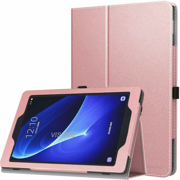 Samsung Galaxy Tab A 10.5 SM-T590 T595 Rose gold Leather Tablet Stand Flip Cover