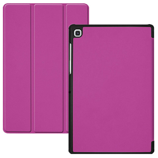 Purple leather magnetic smart case cover for Samsung Galaxy Tab A 10.5 SM-T590 SM-T595