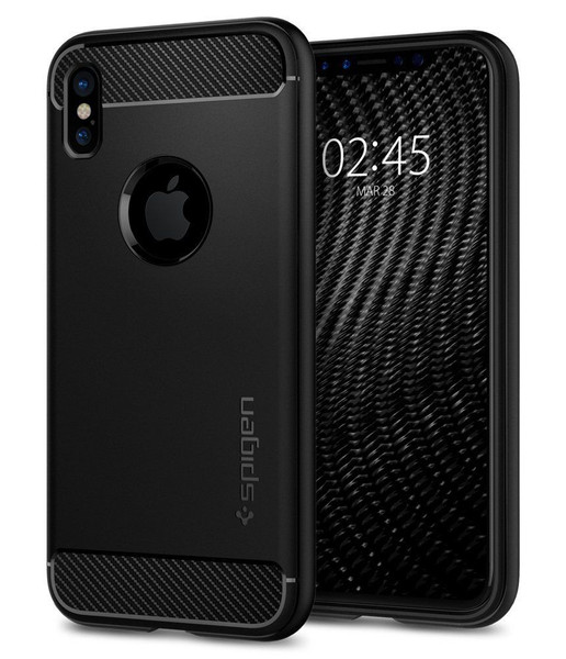 Apple iPhone X Spigen Rugged Armor Black Matte Case