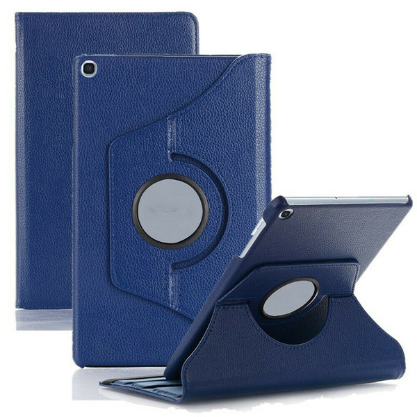 Navy 360 Rotating Case For Samsung Galaxy Tab A 8.4 2020 SM-T307 PU Leather Cover