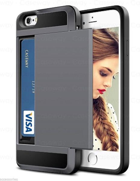 Apple iPhone XS Tough Wallet  Gunmetal Card Holder  Case