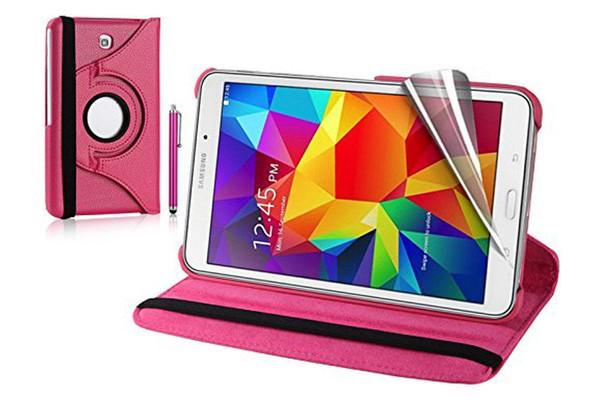 Baby Pink PU Leather 360 Rotating Case for Samsung Galaxy Tab 4 Nook 7.0 (T230)