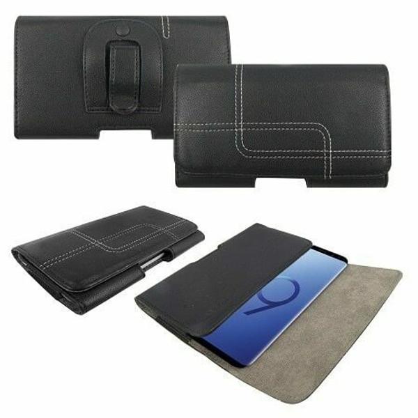 Samsung Galaxy S10 plus Genuine Leather Belt Clip Holster Flip Case