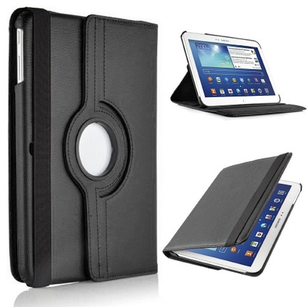 Black  PU Leather 360 Rotating Case for Samsung Galaxy Tab S 8.4 (T700/T701/T705)