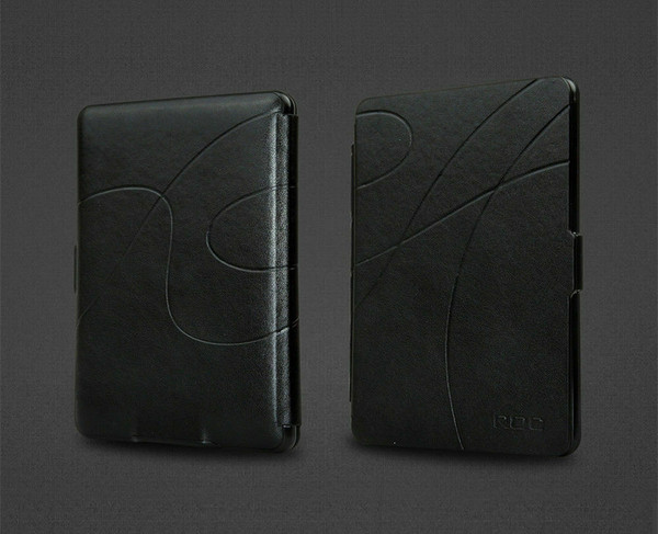 Black Smart Leather Case Cover for New Kindle (10th Generation, 2019 Release)