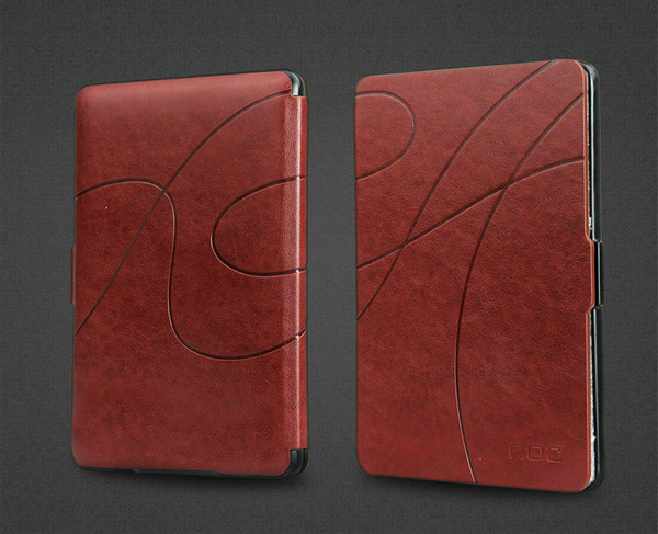 Dark brown Smart Leather Case Cover for New Kindle (10th Generation, 2019 Release)