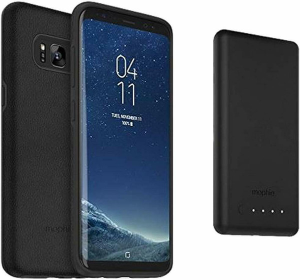 Mophie Samsung Galaxy S8 Charge Force Case Cover & PowerStation Mini Power Bank