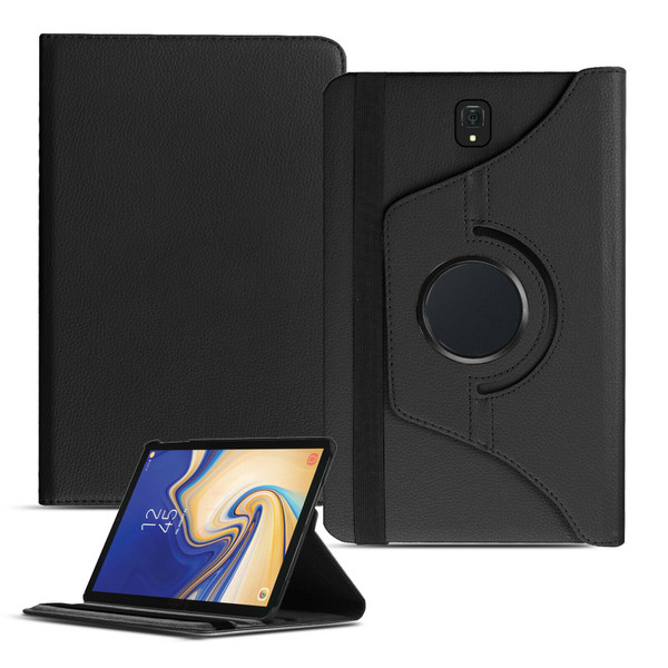 Black PU Leather 360 Rotating Case for Samsung Galaxy Tab 4 7.0 (T230/T231/T235)