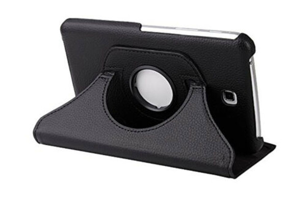 Black PU Leather 360 Rotating Case for Samsung Galaxy Tab 4 Nook 7.0 (T230)