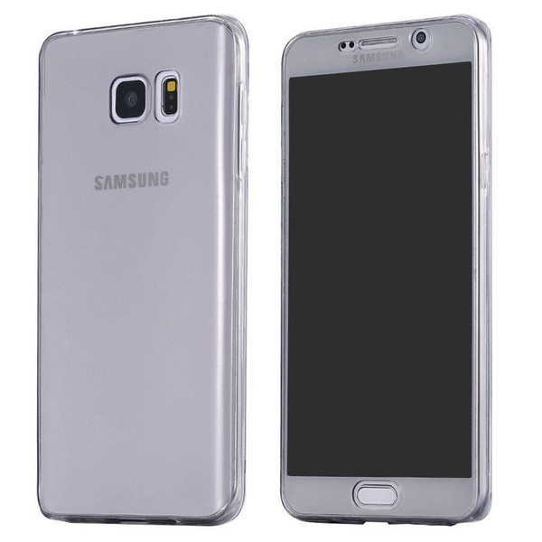 Black Samsung S7 Edge Shockproof 360 Silicone Protective Soft Clear Case Cover