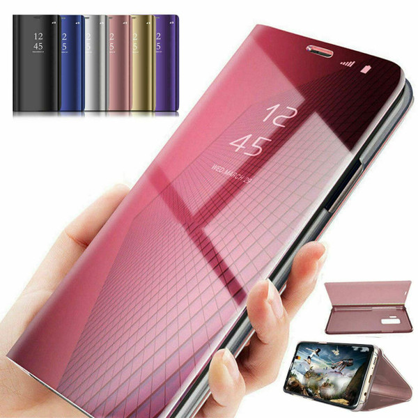 Purple Smart Mirror View Flip Leather 360 Case Cover For Samsung Note 20