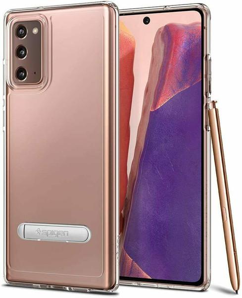 Galaxy Note 20 Case Spigen Ultra Hybrid S Kickstand Cover - Crystal Clear