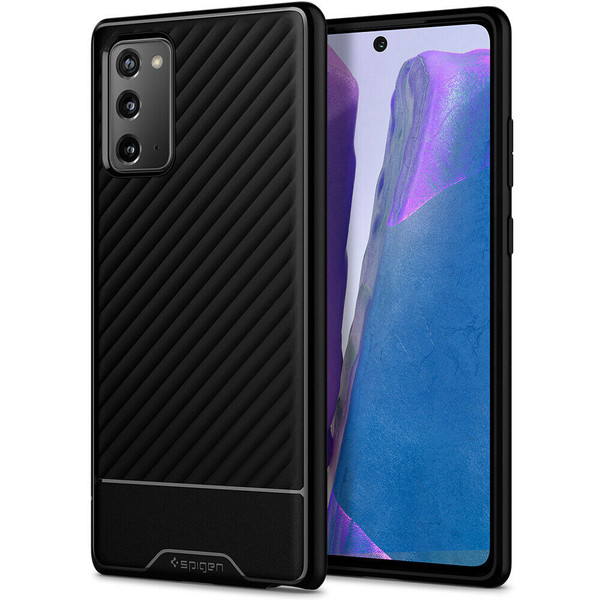 Galaxy Note 20 Case, Spigen Core Armor Shockproof Protective Cover - Black