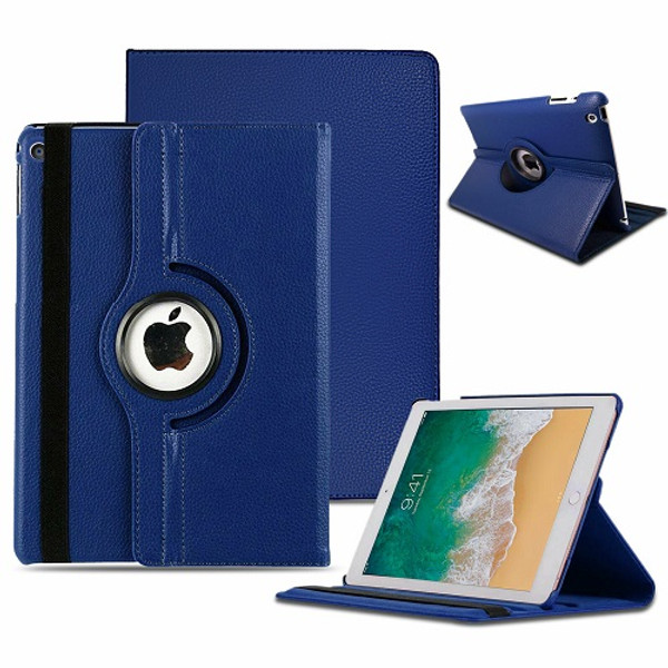 Blue  Apple iPad Air (2019) 360 Rotating Magnetic Smart Stand Case