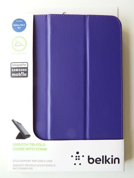 "Belkin Samsung Galaxy Tab 3 10.1"" Smooth Tri-Fold Cover Case P5210 P5220 Purple"