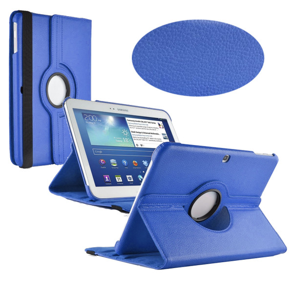 Blue PU Leather 360 Rotating Case for Samsung Galaxy Tab 3 10.1 (P5200/P5210)