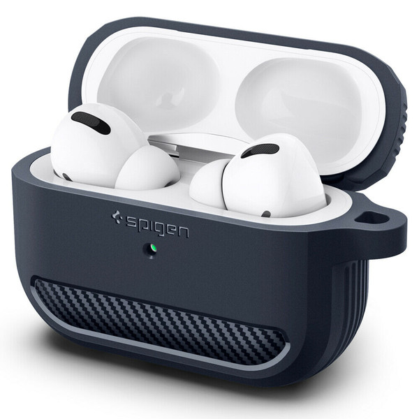 Apple Airpods Pro Case Spigen Rugged Armor Shockproof Slim Cover - Charcoal Gray