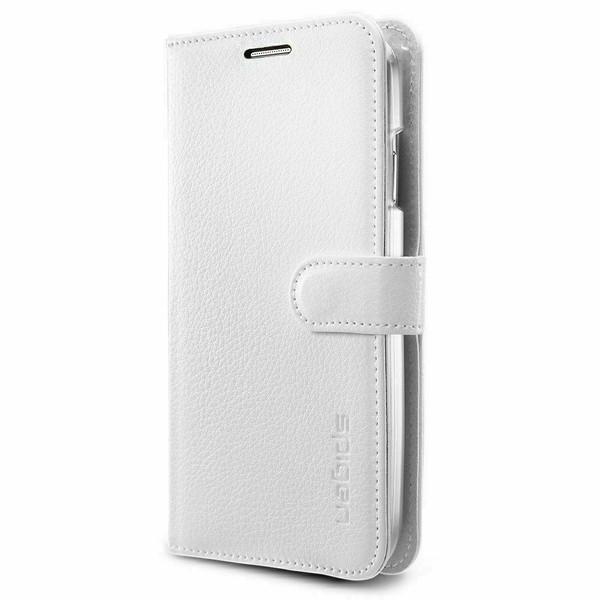 Galaxy S5 Case, Spigen Wallet S Leather Wallet Card Holder Cover - White