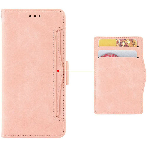 Samsung Galaxy Z Fold 2 5G pink Flip Leather Case Cover Multi-Cards Pack