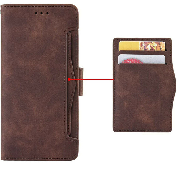 Samsung Galaxy Z Fold 2 5G brown Flip Leather Case Cover Multi-Cards Pack