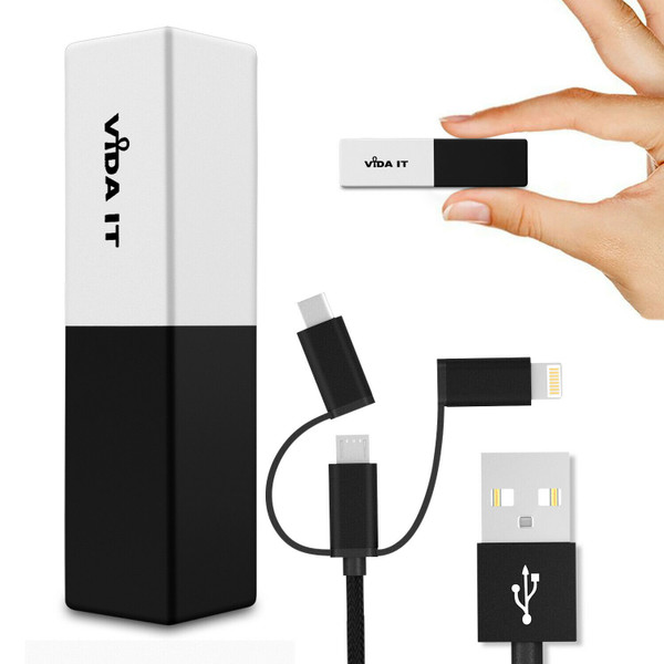 Mini Lightweight Power Bank Battery Pack Charger with USB Cable For All Phones