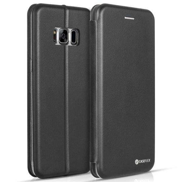 Caseflex Samsung Galaxy S8 Plus Snap Wallet Case - Black (Retail Box)