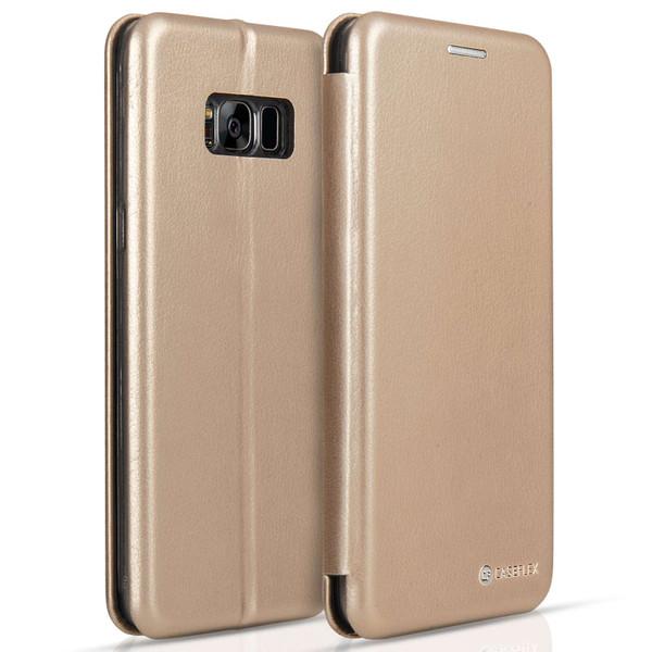 Caseflex Samsung Galaxy S8 Plus Snap Wallet Case - Gold (Retail Box)