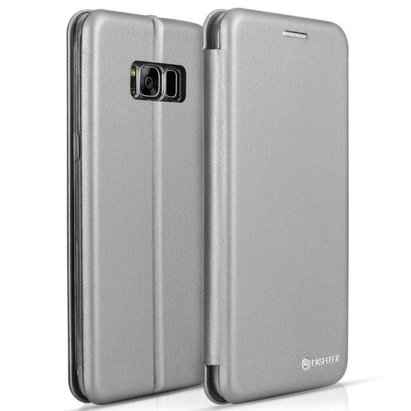 Caseflex Samsung Galaxy S8 Plus Snap Wallet Case - Grey (Retail Box)