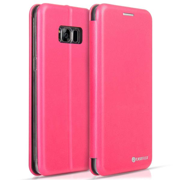 Caseflex Samsung Galaxy S8 Plus Snap Wallet Case - Pink (Retail Box)