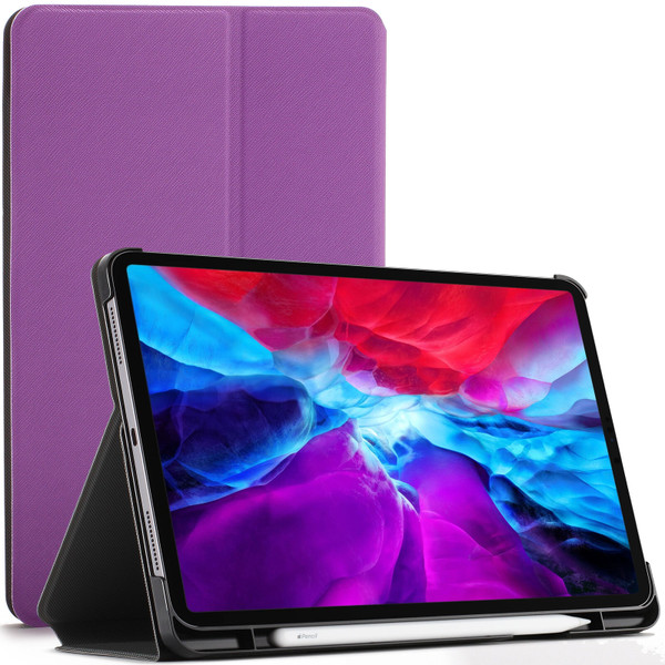 Purple  Apple iPad Pro 12.9 2020 Protective Stand  Smart Auto Sleep Wake Case Cover