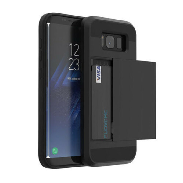 Samsung Galaxy S10e Shockproof Card Holder Hard Wallet Cover