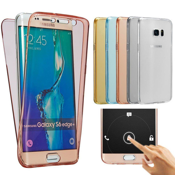 Clear Samsung J3 Shockproof 360° Silicone Protective Soft Clear Case Cover