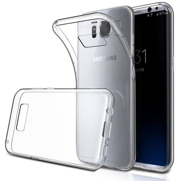 Crystal Clear S8 Plus TPU Gel Jelly Skin Case Back Cover