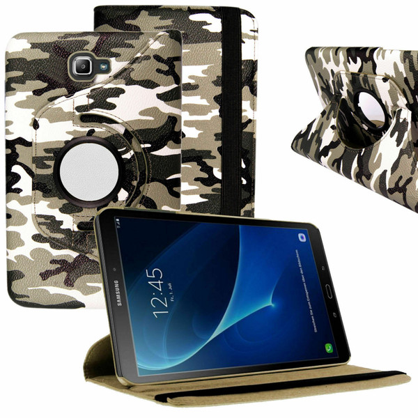 Dark Army Dot PU Leather 360 Rotating Case for Samsung Galaxy Tab PRO 10.1 (T520/T525)