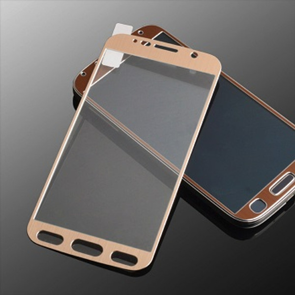 Full Curved 3D Tempered Glass Screen Protector For Samsung Galaxy S6 Gold