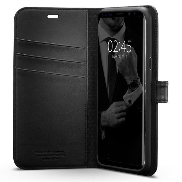 Galaxy S8 Plus Case, Spigen Wallet  Cover - Black