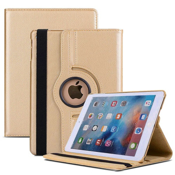 Gold  PU Leather 360 Rotating Case for iPad 2/3/4