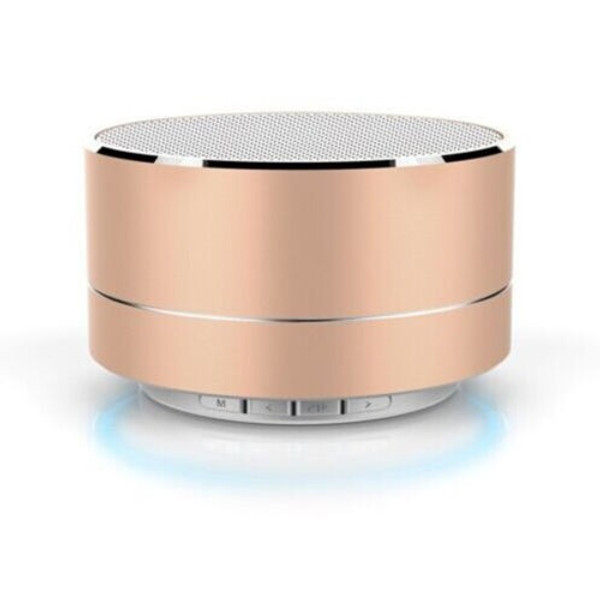 Gold Aluminium Wireless Bluetooth Speaker