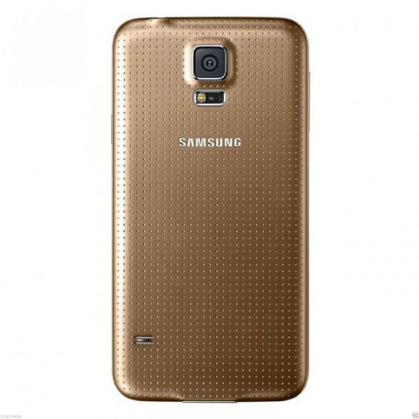 Gold Samsung Galaxy S5 Replacement Housing Battery Back Cover