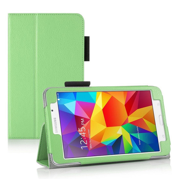 """Green Folding Smart Leather Stand Case for Samsung Galaxy Tab 4 7.0 7"""" Inch T230 T231"""