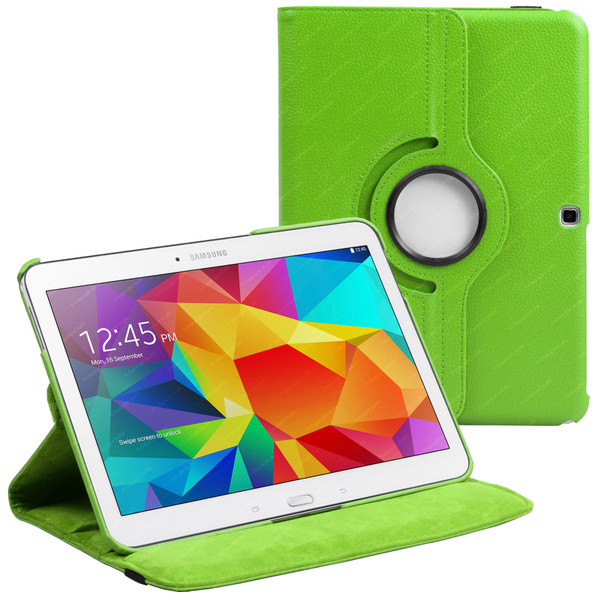 Green PU Leather 360 Rotating Case for Samsung Galaxy Tab 4 Nook 10.1 (T530)